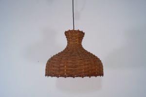 Vintage Deckenlampe Hängelampe RATTAN Esszimmer Küche 60er Rockabilly Ära 3