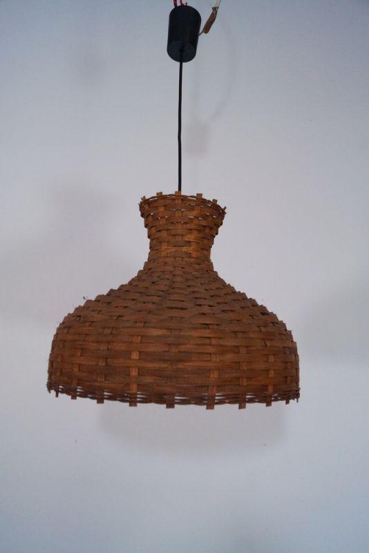 Vintage Deckenlampe Hängelampe RATTAN Esszimmer Küche 60er Rockabilly Ära 4