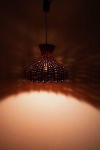 Vintage Deckenlampe Hängelampe RATTAN Esszimmer Küche 60er Rockabilly Ära 9