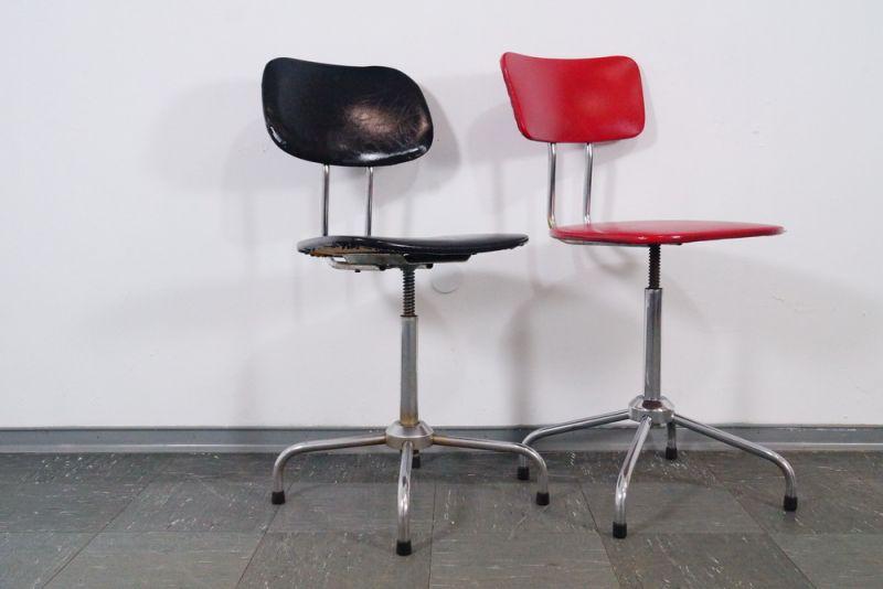 Industrial design 2x arbeitsstuhl stuhl stahlrohr bauhaus for Stuhl design bauhaus