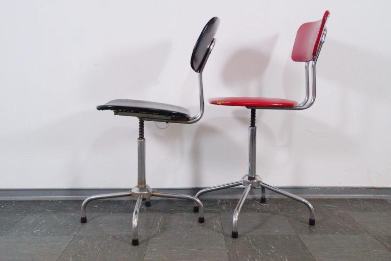 Industrial design 2x arbeitsstuhl stuhl stahlrohr bauhaus for Stuhl bauhaus design