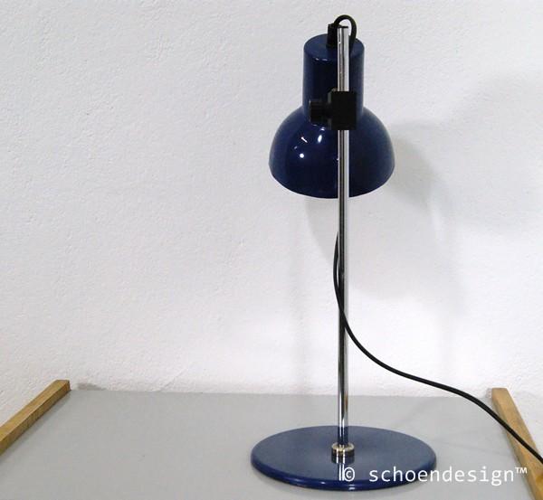 tischlampe schreibtischlampe b rolampe lampe blau 60er jahre six. Black Bedroom Furniture Sets. Home Design Ideas