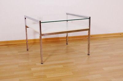 Couchtisch Chrom Glas ~ Design couchtisch beistelltisch coffee table chrom glas midcentury