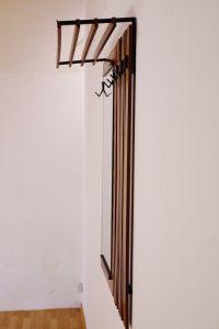 midcentury wandgarderobe garderobe mit spiegel hutablage nussbaum 60er nr 291581687785. Black Bedroom Furniture Sets. Home Design Ideas