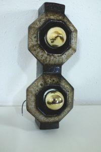 Set  4x Wandlampe Keramiklampe PAN Leuchten Vintage 70er 80er 1