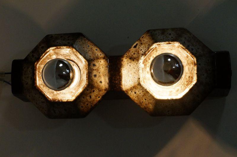 Set  4x Wandlampe Keramiklampe PAN Leuchten Vintage 70er 80er 5