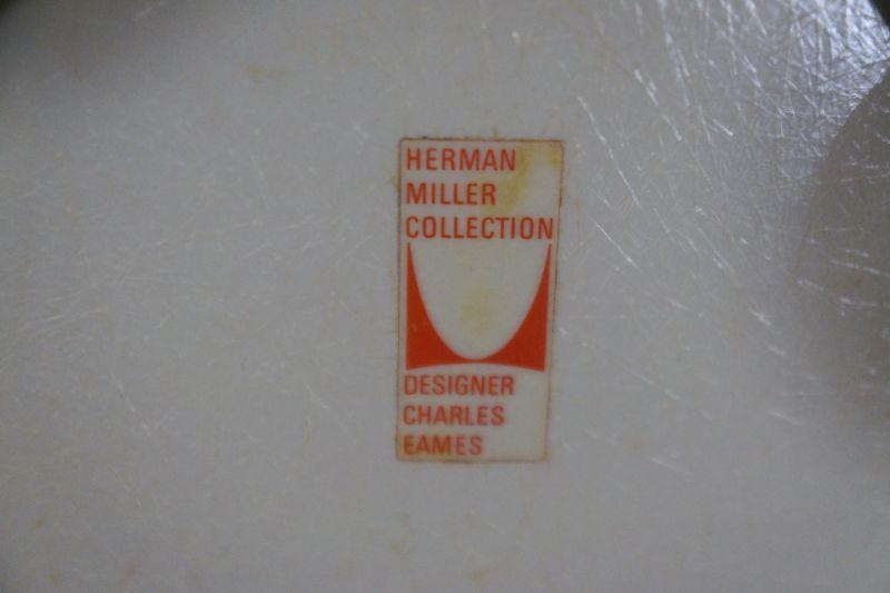 Tandem Sitzbank 4x Fiberglas Sidechair Charles Eames für Herman Miller 60er Jahre 8