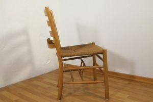 Kirchenstuhl Stuhl von Kaare Klint für Fritz Hansen, Dänemark mit Papercord | 88x vorhanden 1