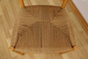 Kirchenstuhl Stuhl von Kaare Klint für Fritz Hansen, Dänemark mit Papercord | 88x vorhanden 3