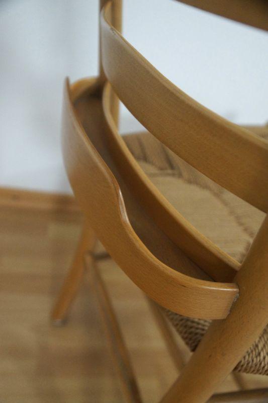 Kirchenstuhl Stuhl von Kaare Klint für Fritz Hansen, Dänemark mit Papercord | 88x vorhanden 5