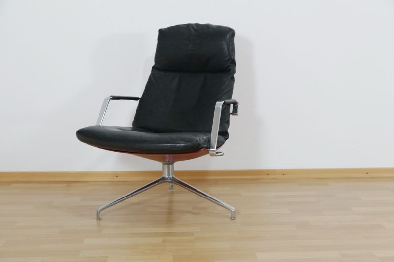 Highback Sessel, Loungechair Preben Fabricius für Knoll FK 86 60er Jahre 0