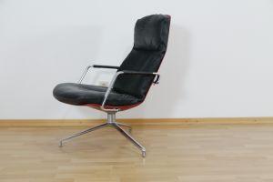 Highback Sessel, Loungechair Preben Fabricius für Knoll FK 86 60er Jahre 1