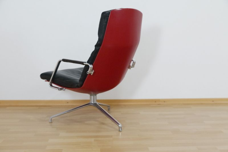 Highback Sessel, Loungechair Preben Fabricius für Knoll FK 86 60er Jahre 2