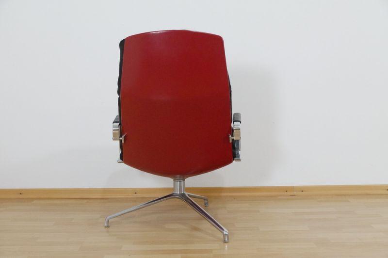 Highback Sessel, Loungechair Preben Fabricius für Knoll FK 86 60er Jahre 3