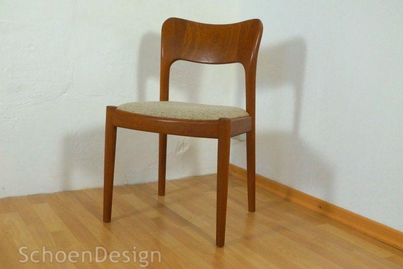 2x Teak Stuhl Niels Kofoed Polsterstuhl Danish Design Vintage 60er 70er Kofoeds