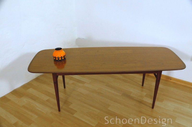 Graziler Teak Couchtisch restauriert Danish Design Tisch Vintage Midcentury 60er