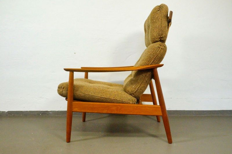 Teak Sessel Loungechair Arne Vodder Für France Son Verstellbar 2 60er 70er