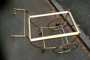 vintage teewagen servierwagen messing lochblech mathieu. Black Bedroom Furniture Sets. Home Design Ideas