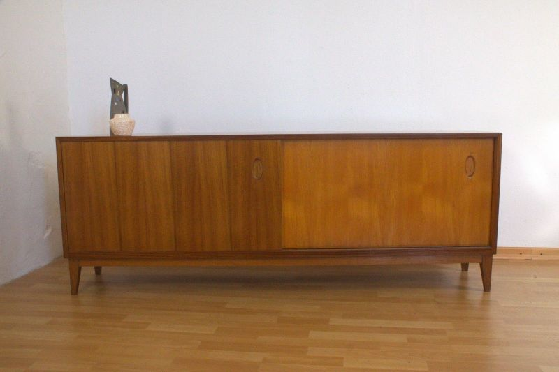 vintage nussbaum sideboard georg satink f r wk m bel 1952. Black Bedroom Furniture Sets. Home Design Ideas