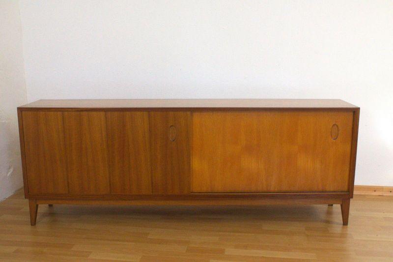 vintage nussbaum sideboard georg satink f r wk m bel 1952. Black Bedroom Furniture Sets. Home Design Ideas