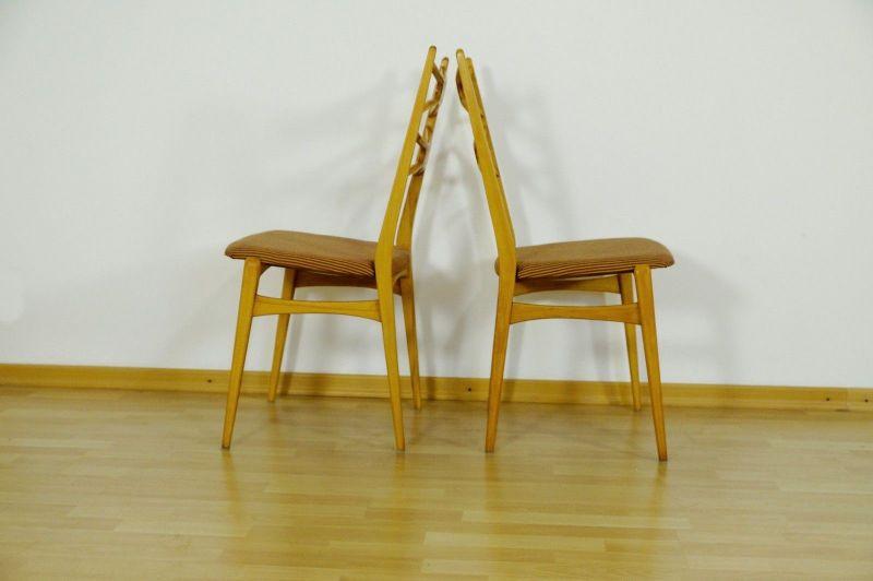 2x Stuhl Stühle Esszimmer Danish Design Buche Vintage Mid Century Ära 60er  70er 1