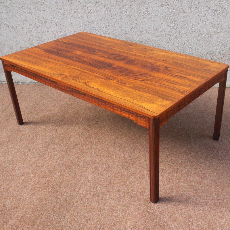 Vintage Couchtisch Coffeetable Rosewood Zebrano Sweden Tisch Danish Design 60er