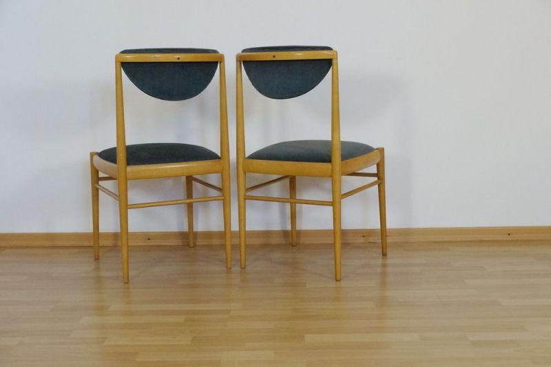 Polsterstuhl Esszimmer Stuhl Buche 2x Danish Design Vintage Midcentury 60er 70er 2
