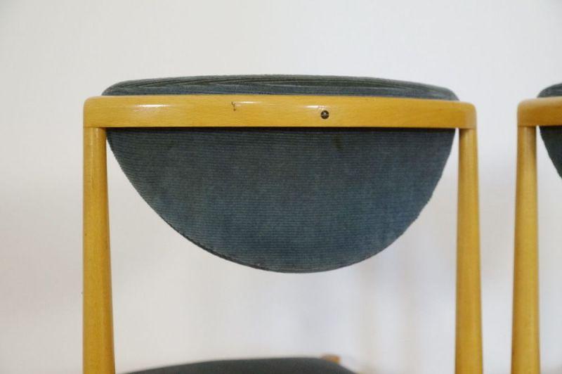 Polsterstuhl Esszimmer Stuhl Buche 2x Danish Design Vintage Midcentury 60er 70er 3