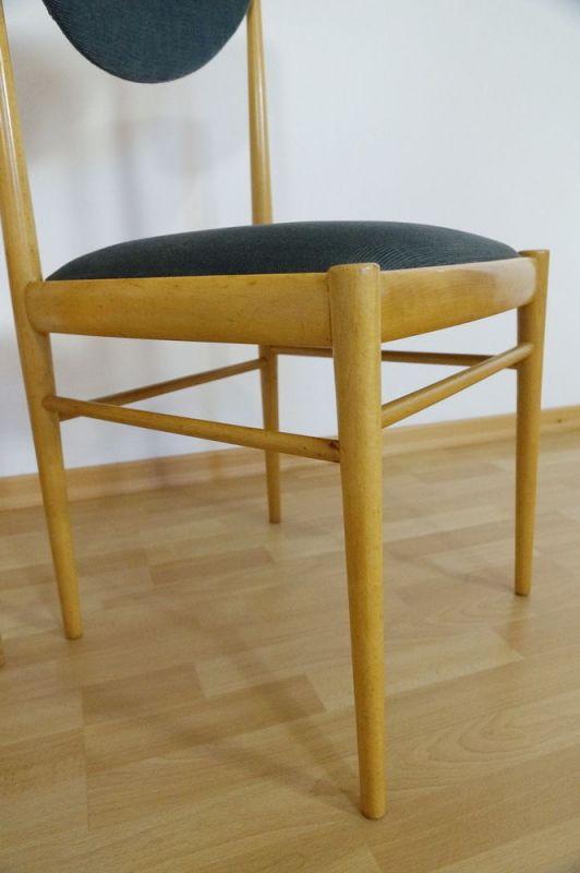 Polsterstuhl Esszimmer Stuhl Buche 2x Danish Design Vintage Midcentury 60er 70er 4