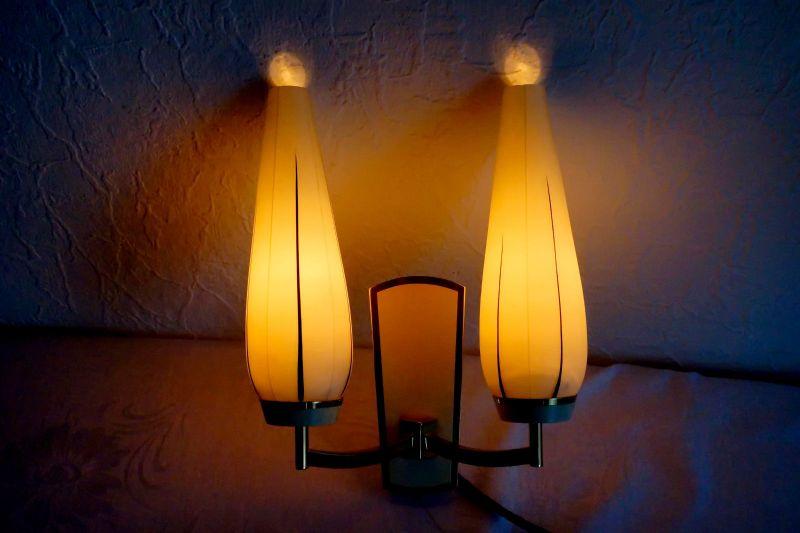 vintage wandlampe lampe licht von kaiser leuchten opal glas 50er weiss messing nr 292265641834. Black Bedroom Furniture Sets. Home Design Ideas