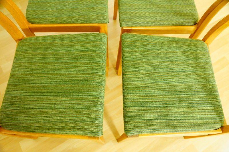 Polsterstuhl Stuhl Eiche gelaugt Schweden Vintage Mid Century 60er 70er 4x Oak 4