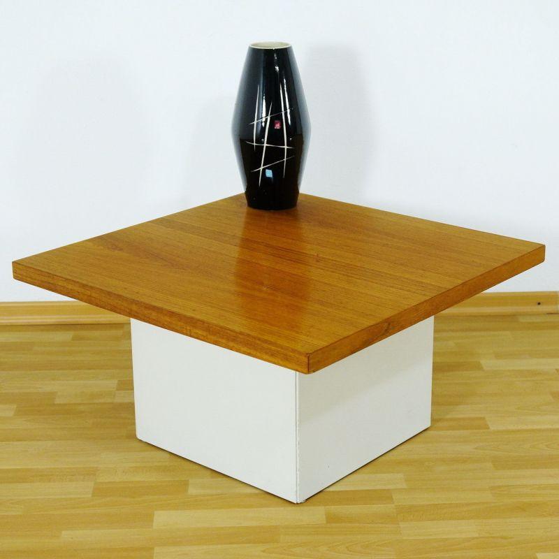 60er Jahre Design Couchtisch Coffee Table von COR Lübke Nussbaum Vintage 70er