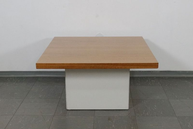 60er Jahre Design Couchtisch Coffee Table von COR Lübke Nussbaum Vintage 70er 1