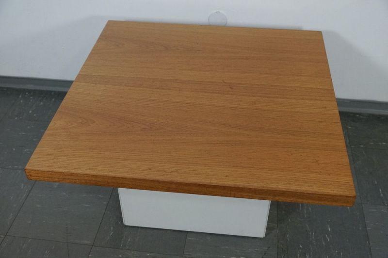 60er Jahre Design Couchtisch Coffee Table von COR Lübke Nussbaum Vintage 70er 3