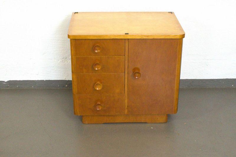 Nachttisch kommode chest cabinet nightstand vintage kl for Schrank 50er