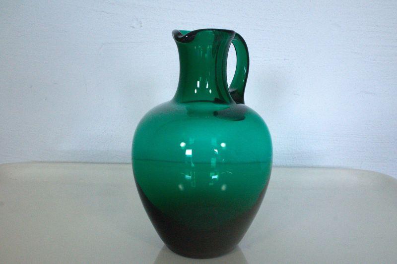 Vintage glasvase glaskrug hnl turmalin mid century 60er - Glasvase vintage ...