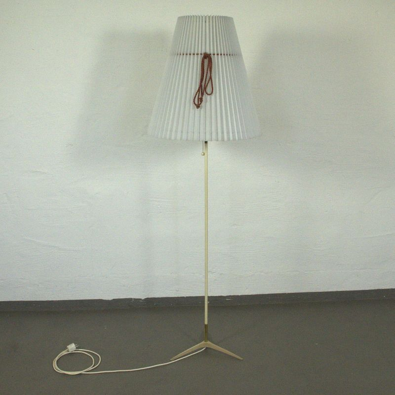 Vintage Stehlampe Dreistern Fuß Krähenfuß Boden Lampe Leuchte 50er Rockabilly