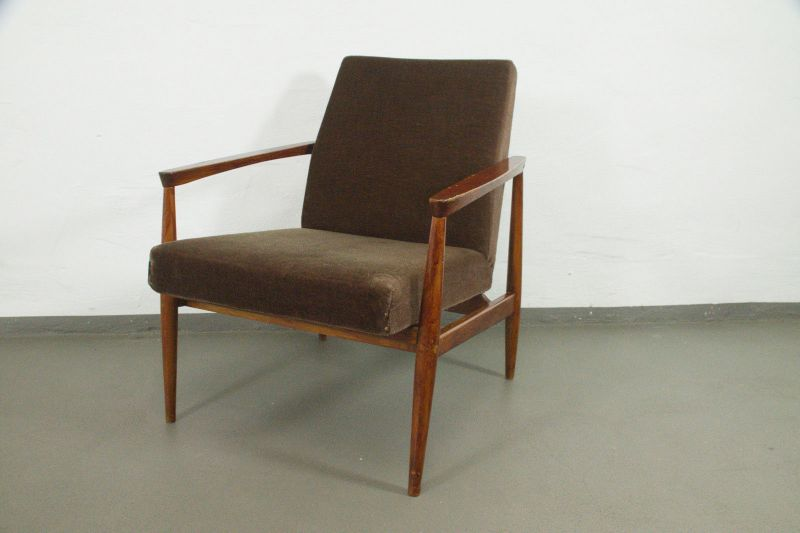 vintage sessel easychair armlehnen danish design buche velours mid century 60er nr 292270532222. Black Bedroom Furniture Sets. Home Design Ideas