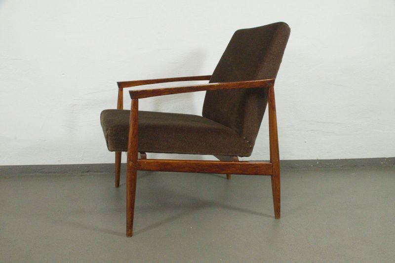 vintage sessel easychair armlehnen danish design buche. Black Bedroom Furniture Sets. Home Design Ideas