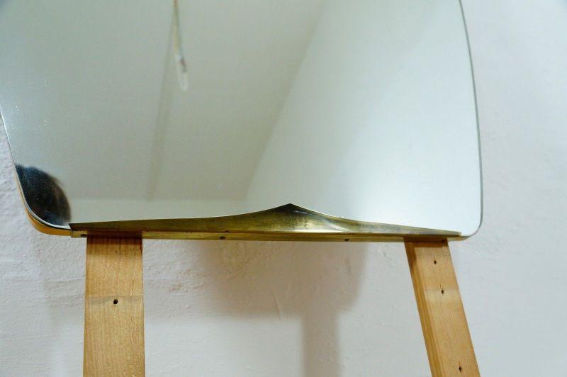 Vintage Ankleidespiegel Wandspiegel Spiegel Oval o. Rahmen 50er 60er v. Kommode 1