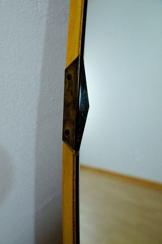 Vintage Ankleidespiegel Wandspiegel Spiegel Oval o. Rahmen 50er 60er v. Kommode 2