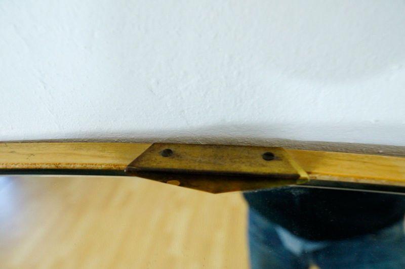 Vintage Ankleidespiegel Wandspiegel Spiegel Oval o. Rahmen 50er 60er v. Kommode 3