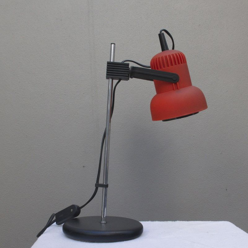 Mid Century BRILLIANT Tischlampe Pop Art Ära Orange Vintage Lampe 60er 70er