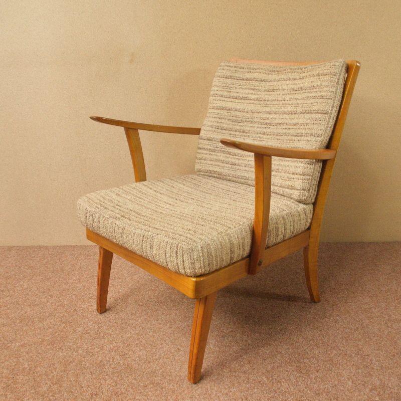 VINTAGE Sessel Easychair KNOLL ANTIMOTT Kirschholz Originalzustand 50er 60er