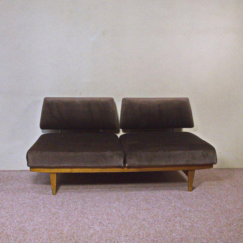 Vintage sofa daybed knoll stella verwandelbar magic sofa for Sofa 50er 60er