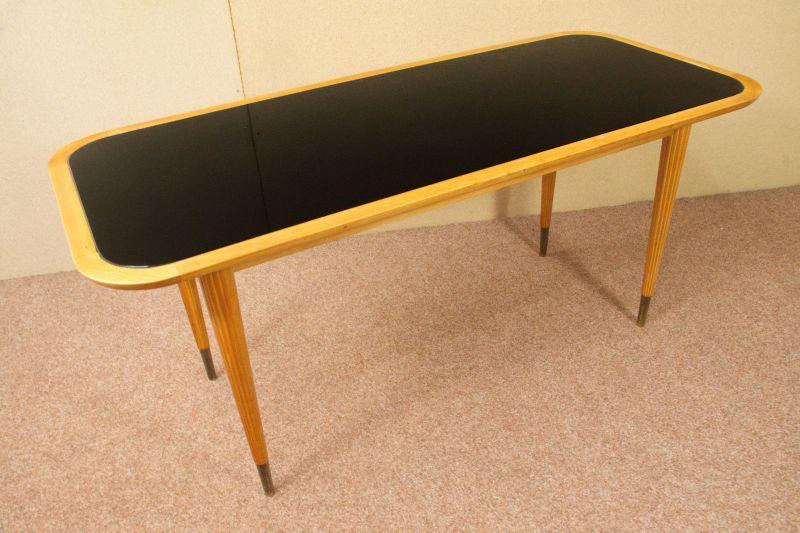 couchtisch deutsche werkst tten hellerau schwarzes glas vintage tisch 50er jahre nr. Black Bedroom Furniture Sets. Home Design Ideas