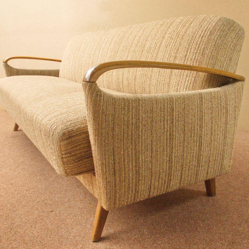 Daybed Schlafsofa Mid Century Danish Design Kirschholz Vintage Sofa 60er Jahre
