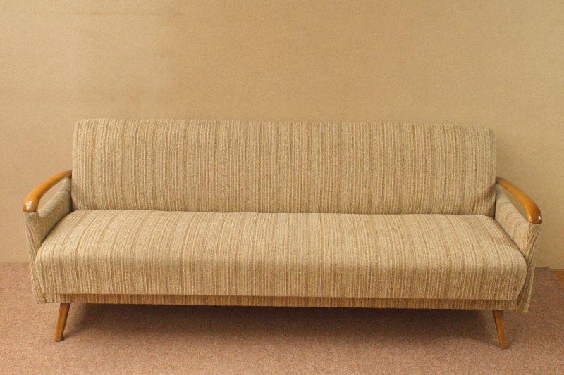 Daybed Schlafsofa Mid Century Danish Design Kirschholz Vintage Sofa 60er Jahre 1