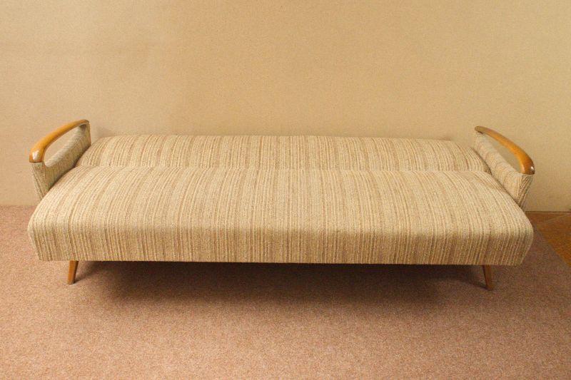 Daybed Schlafsofa Mid Century Danish Design Kirschholz Vintage Sofa 60er Jahre 2