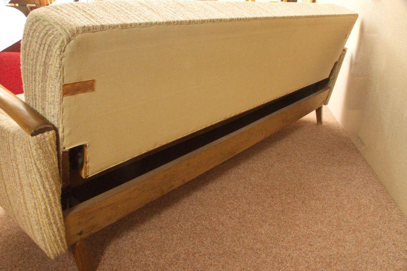 Daybed Schlafsofa Mid Century Danish Design Kirschholz Vintage Sofa 60er Jahre 3